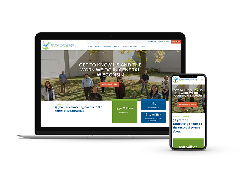 Community Foundation of Central Wisconsin website design