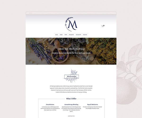 Meet the Herb Halfway website design