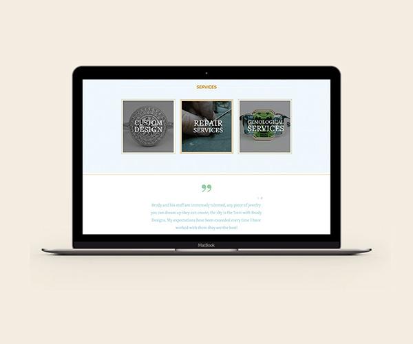 Brody Designs jewelry website design