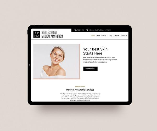 Stevens Point Medical Aesthetics website design