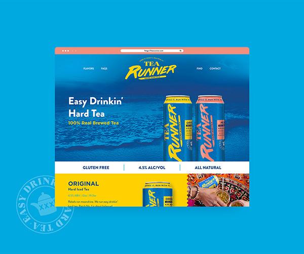 Tea Runner website design example